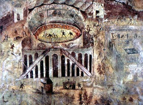 Rixe dans l'amphithéâtre de Pompéi