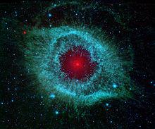 Image d'une nébuleuse planétaire en infrarouge.
