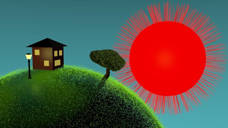Image film animation ciel bleu