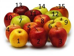 Oui, oui il y a bien 15 pommes sur cette image !