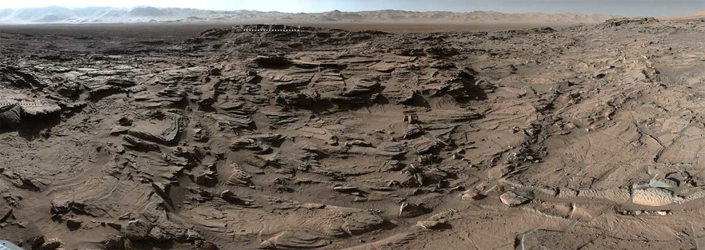 Vue panoramique de Mars