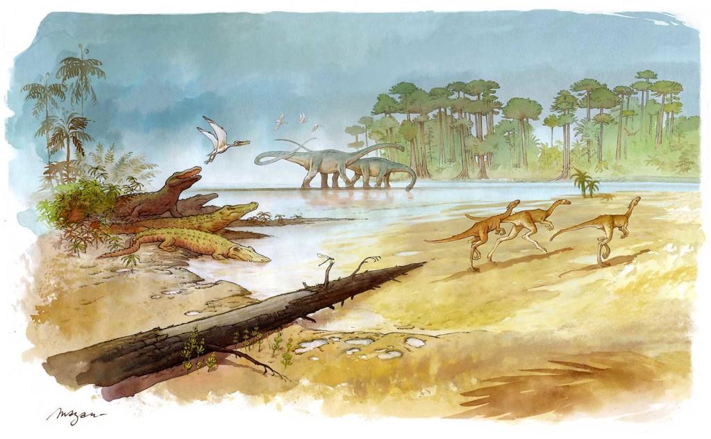 Dessin de Mazan, pour le site paléontologique d'Angeac-Charente
