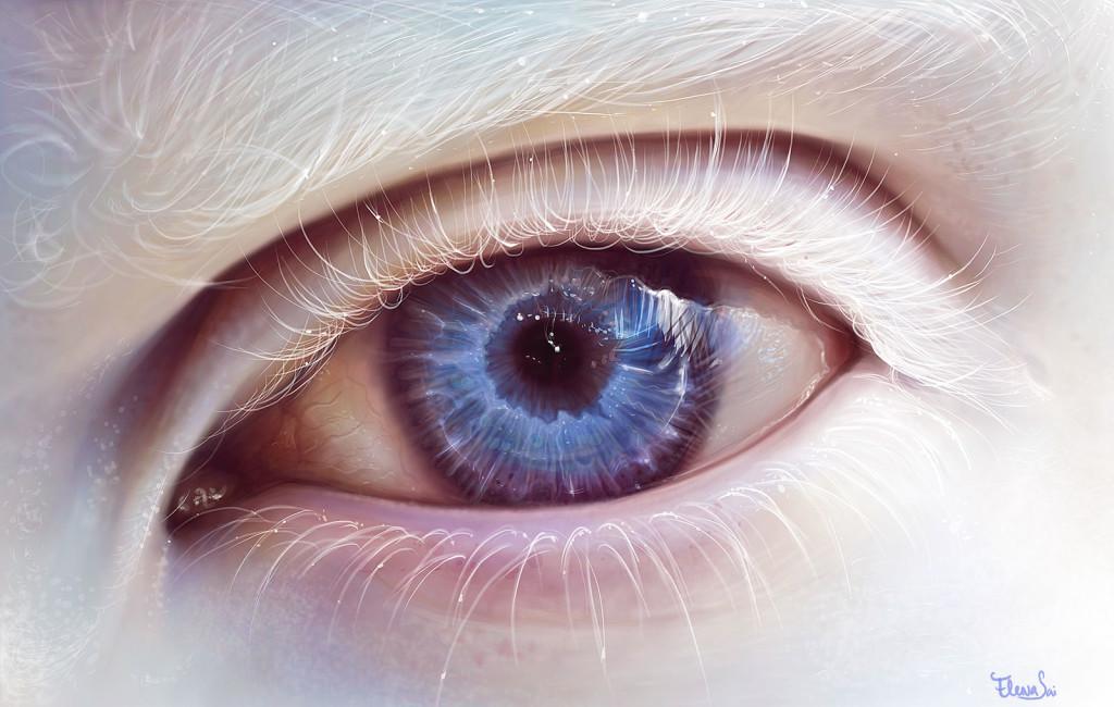 Albino Eye, dessin d'ElenaSai via DeviantArt