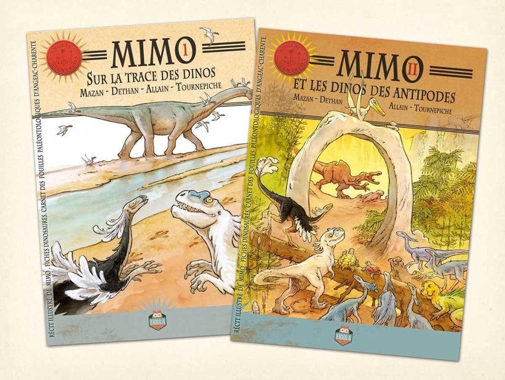 MIMO, sur la trace des dinos - Bande dessinée de Mazan
