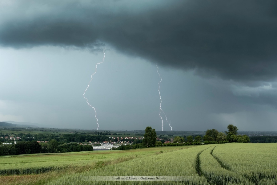 Orage du 5 juin, photo par Guillaume Scheib