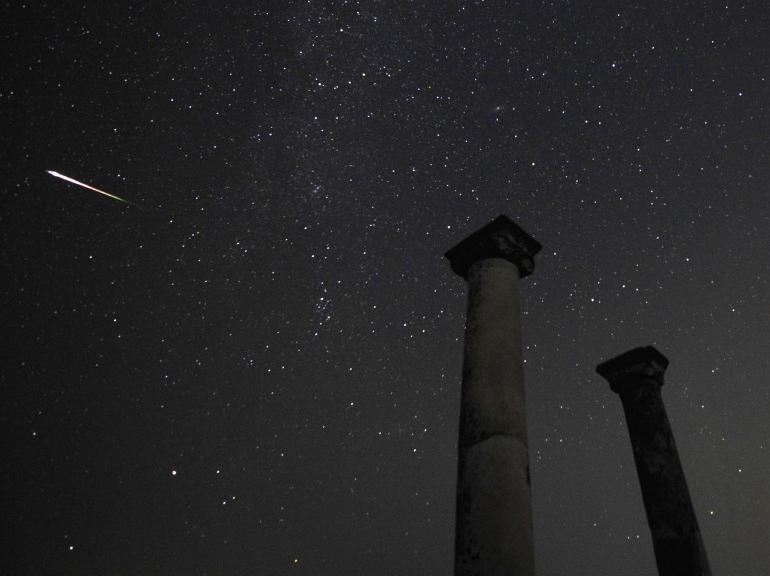 Photo depuis la ville antique de Stobi, en République de Macédoine, le 13 août 2013. Par Georgi Licovski