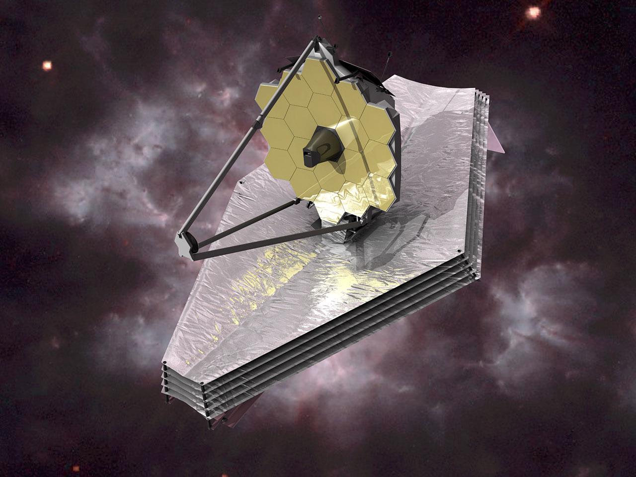 Les télescope spatial James Webb (JWST) en image de synthèse.