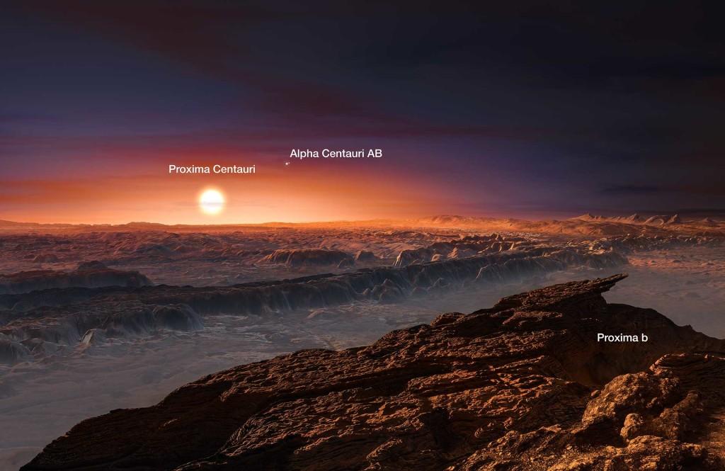 Surface de Proxima du Centaure - Vue d'artiste
