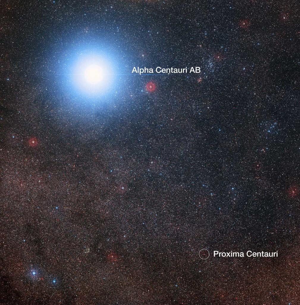 Alpha du Centaure et Proxima du Centaure