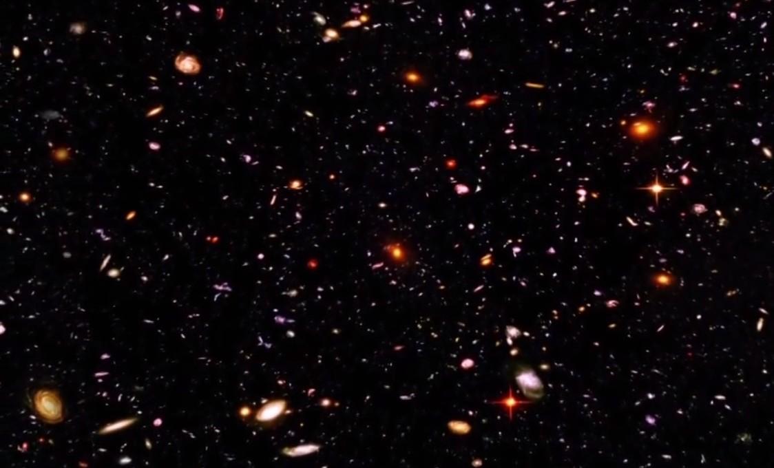 Champ profond de Hubble. (image composite sur 10 jours d'observation)