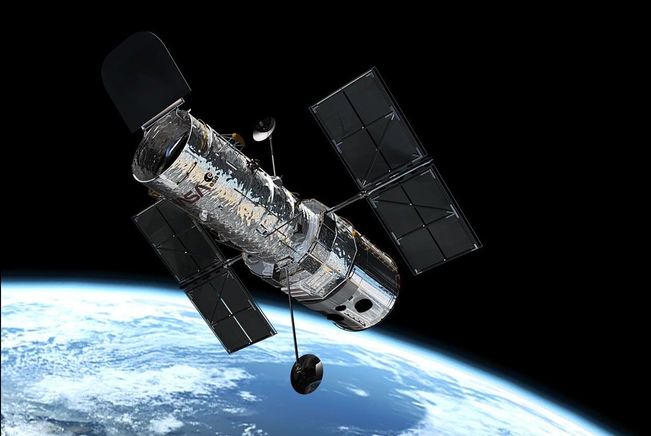 Hubble en orbite.