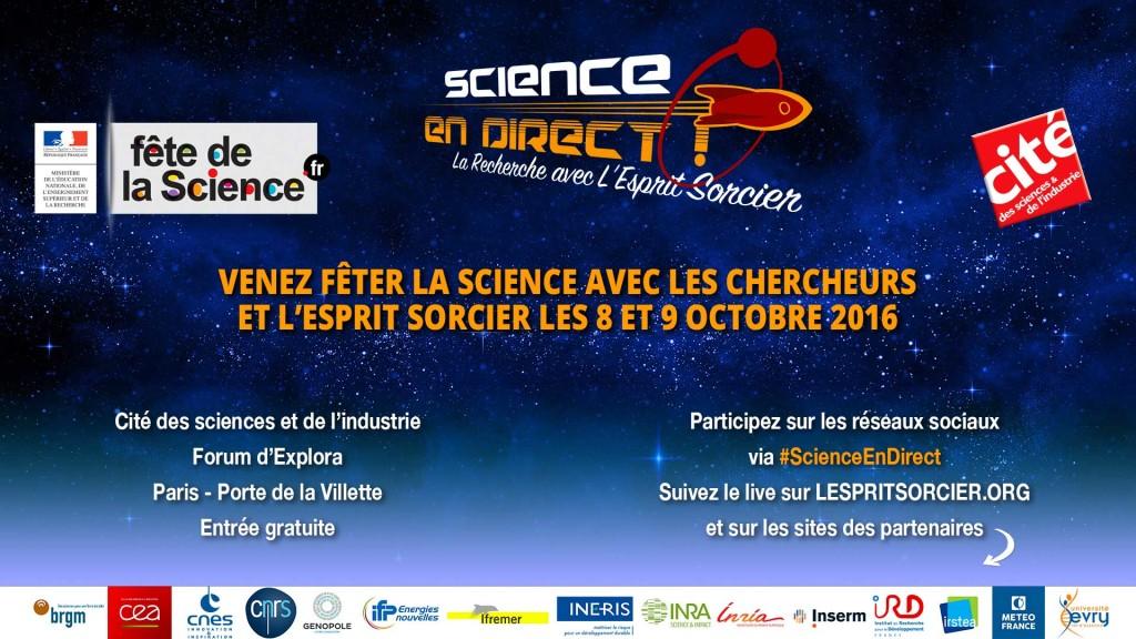 Science En Direct - 8 et 9 octobre 2016 à la Cité des sciences
