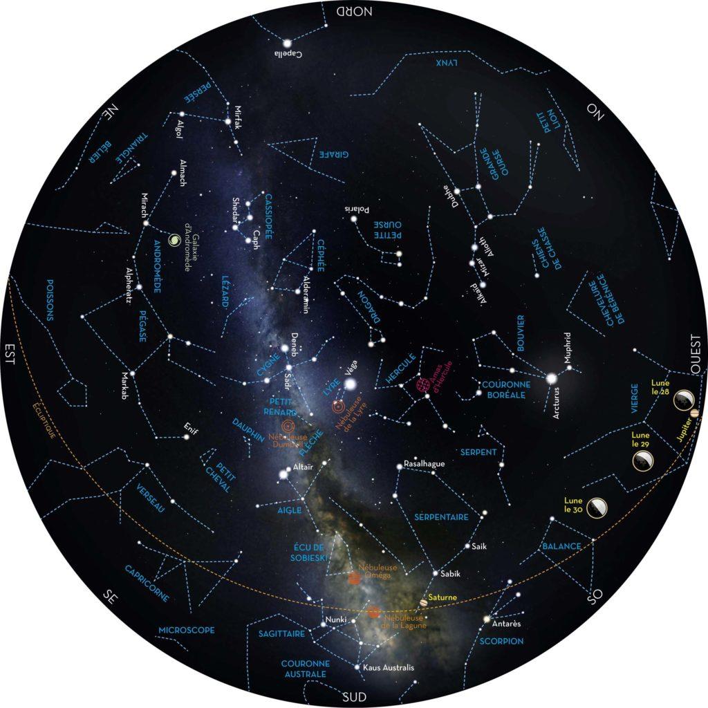Carte nuits des étoiles 2017