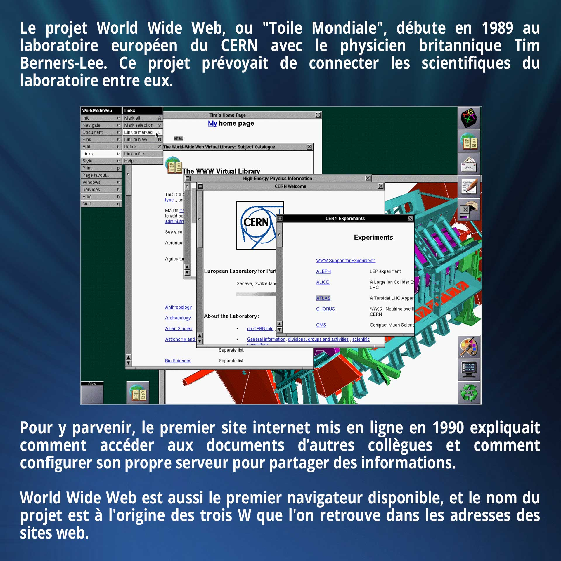 Le projet World Wide Web, ou
